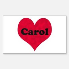 Carol Leather Heart Rectangle Decal