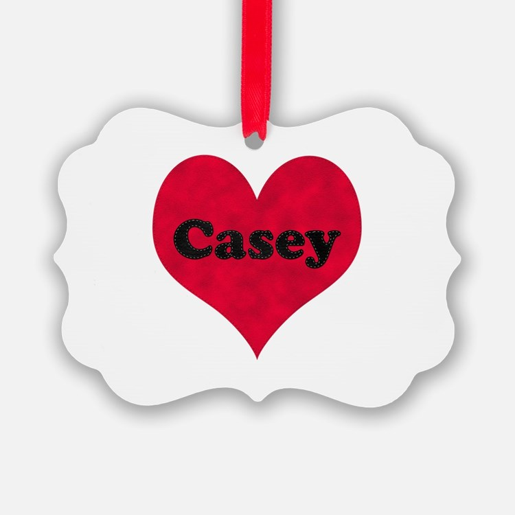 Casey Leather Heart Ornament