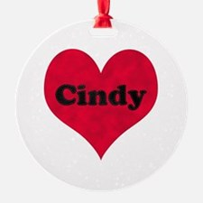 Cindy Leather Heart Ornament