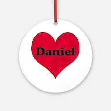 Daniel Leather Heart Round Ornament