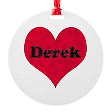 Derek Leather Heart Ornament