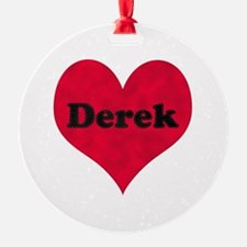 Derek Leather Heart Ornament