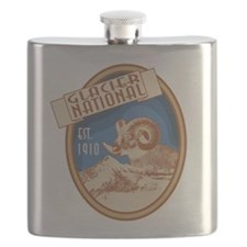 Glacier Bighorn Badge Flask