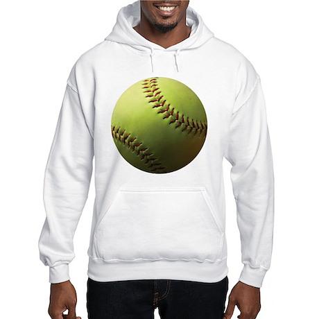 Yellow Softball Hooded Sweatshirt