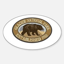 Glacier Brown Bear Badge Decal