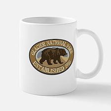 Glacier Brown Bear Badge Mug