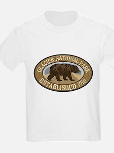 Glacier Brown Bear Badge T-Shirt
