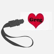 Greg Leather Heart Luggage Tag