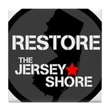Restore The Jersey Shore Tile Coaster