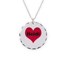 Heidi Leather Heart Necklace
