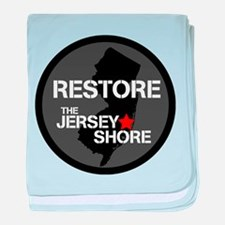 Restore The Jersey Shore baby blanket