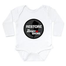Restore The Jersey Shore Long Sleeve Infant Bodysu