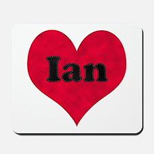 Ian Leather Heart Mousepad