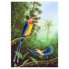 Cretaceous birds, artwork Poster