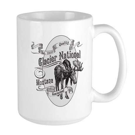 Glacier National Vintage Moose Large Mug