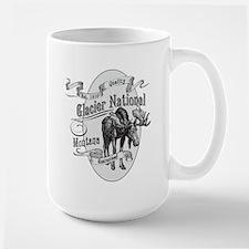 Glacier National Vintage Moose Mug