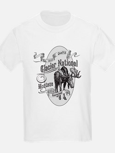 Glacier National Vintage Moose T-Shirt