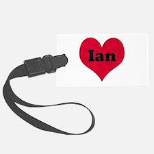 Ian Leather Heart Luggage Tag