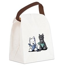 KiniArt™ Terrier Twosome Canvas Lunch Bag