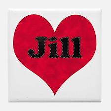 Jill Leather Heart Tile Coaster