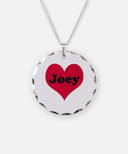 Joey Leather Heart Necklace Circle Charm
