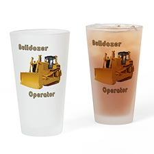 Bulldozer Operator Drinking Glass