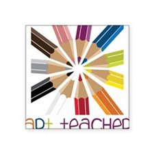 "Art Teacher Square Sticker 3"" x 3"""