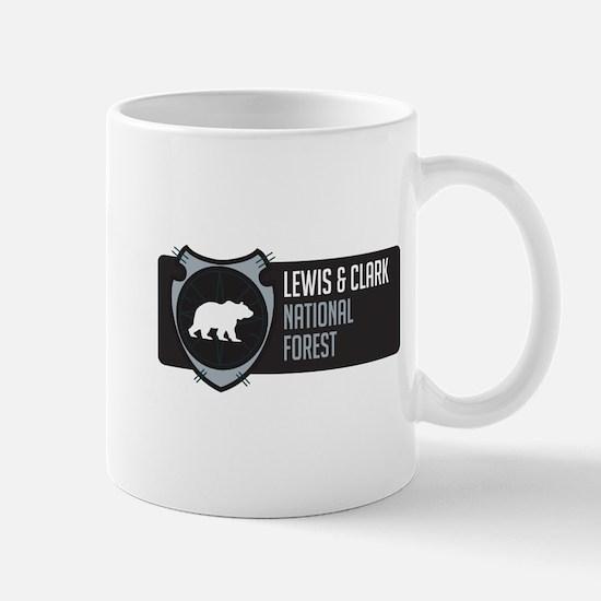 Lewis Clark Arrowhead Badge Mug