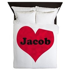 Jacob Leather Heart Queen Duvet
