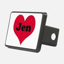 Jen Leather Heart Hitch Cover
