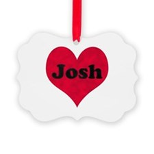 Josh Leather Heart Ornament