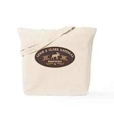 Lewis Clark Belt Buckle Badge Tote Bag