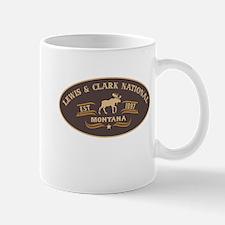 Lewis Clark Belt Buckle Badge Mug