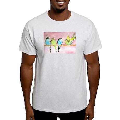 Parakeets Posturing Light T-Shirt