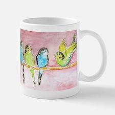 Parakeets Posturing Mug