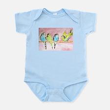 Parakeets Posturing Infant Bodysuit