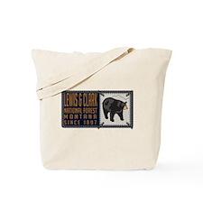 Lewis Clark Black Bear Badge Tote Bag