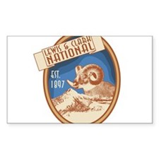 Lewis and Clark Bighorn Badge Decal