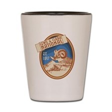Lewis and Clark Bighorn Badge Shot Glass