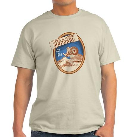 Lewis and Clark Bighorn Badge Light T-Shirt