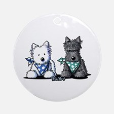 KiniArt™ Terrier Twosome Ornament (Round)