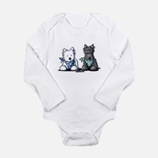 KiniArt™ Terrier Twosome Long Sleeve Infant Bodysu