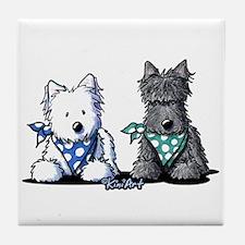 KiniArt™ Terrier Twosome Tile Coaster