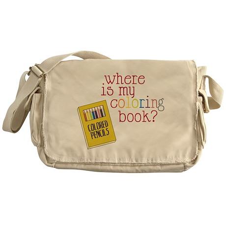 Coloring Book Messenger Bag