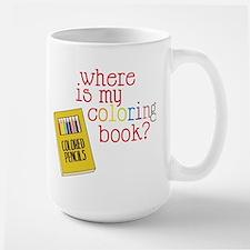 Coloring Book Large Mug