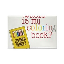 Coloring Book Rectangle Magnet