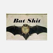 Bat Sh!t Rectangle Magnet