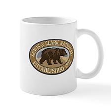 Lewis Clark Brown Bear Badge Mug