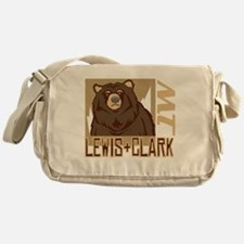 Lewis Clark Grumpy Grizzly Messenger Bag