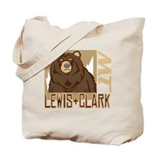 Lewis Clark Grumpy Grizzly Tote Bag